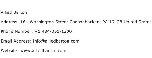 Allied Barton Address Contact Number