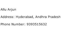 Allu Arjun Address Contact Number