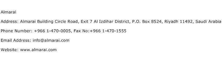Almarai Address Contact Number
