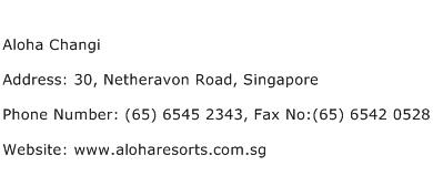 Aloha Changi Address Contact Number