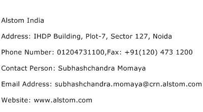 Alstom India Address Contact Number