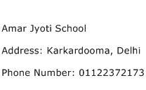 Amar Jyoti School Address Contact Number