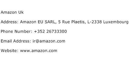 Amazon Uk Address Contact Number