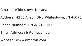 Amazon Whitestown Indiana Address Contact Number