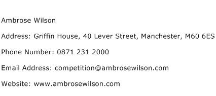 Ambrose Wilson Address Contact Number