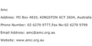 Amc Address Contact Number
