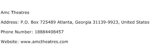 Amc Theatres Address Contact Number