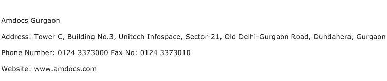 Amdocs Gurgaon Address Contact Number