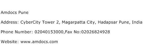 Amdocs Pune Address Contact Number