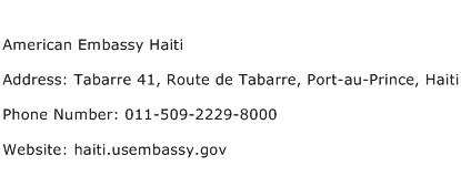 American Embassy Haiti Address Contact Number