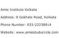Amie Institute Kolkata Address Contact Number