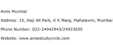 Amie Mumbai Address Contact Number