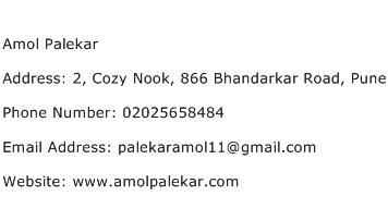 Amol Palekar Address Contact Number
