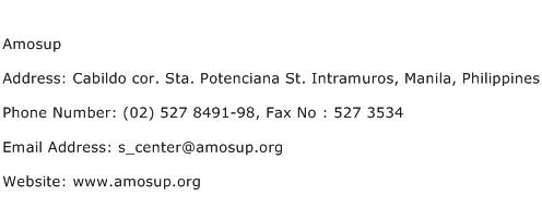 Amosup Address Contact Number