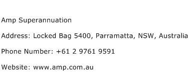 Amp Superannuation Address Contact Number