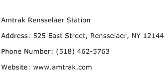 Amtrak Rensselaer Station Address Contact Number