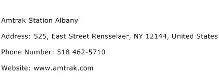 Amtrak Station Albany Address Contact Number