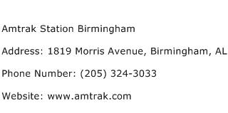 Amtrak Station Birmingham Address Contact Number