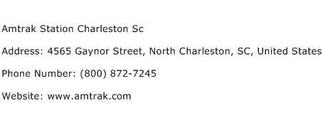Amtrak Station Charleston Sc Address Contact Number