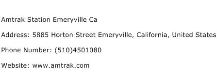 Amtrak Station Emeryville Ca Address Contact Number