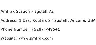 Amtrak Station Flagstaff Az Address Contact Number