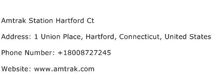 Amtrak Station Hartford Ct Address Contact Number