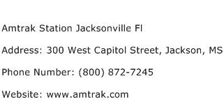 Amtrak Station Jacksonville Fl Address Contact Number