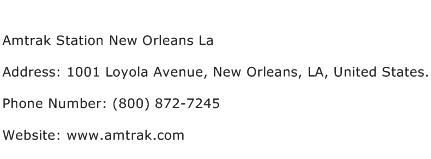 Amtrak Station New Orleans La Address Contact Number