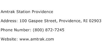 Amtrak Station Providence Address Contact Number