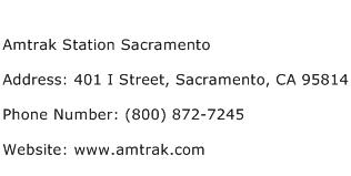 Amtrak Station Sacramento Address Contact Number