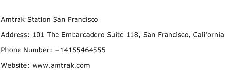 Amtrak Station San Francisco Address Contact Number