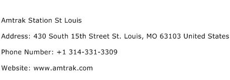 Amtrak Station St Louis Address Contact Number