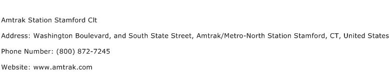 Amtrak Station Stamford Clt Address Contact Number