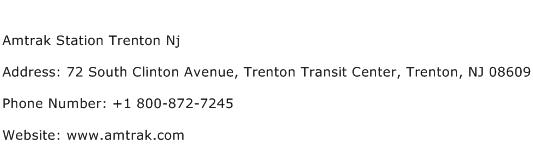 Amtrak Station Trenton Nj Address Contact Number
