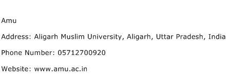 Amu Address Contact Number