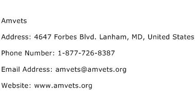 Amvets Address Contact Number