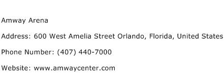 Amway Arena Address Contact Number