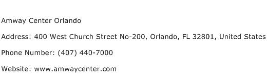 Amway Center Orlando Address Contact Number