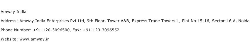 Amway India Address Contact Number