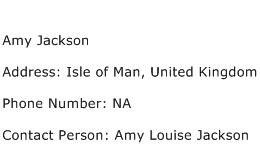Amy Jackson Address Contact Number