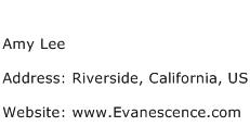 Amy Lee Address Contact Number