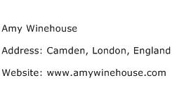 Amy Winehouse Address Contact Number
