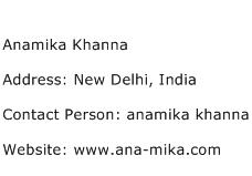 Anamika Khanna Address Contact Number