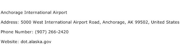 Anchorage International Airport Address Contact Number