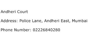 Andheri Court Address Contact Number