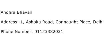 Andhra Bhavan Address Contact Number