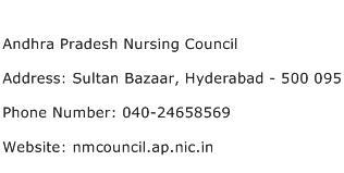 Andhra Pradesh Nursing Council Address Contact Number