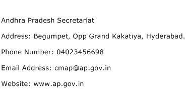 Andhra Pradesh Secretariat Address Contact Number