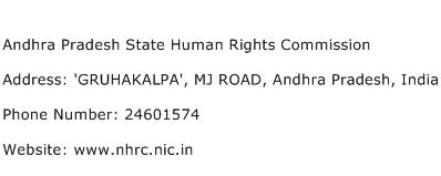 Andhra Pradesh State Human Rights Commission Address Contact Number