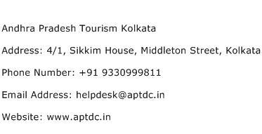 Andhra Pradesh Tourism Kolkata Address Contact Number